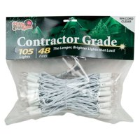 Holiday Bright Lights Incandescent Contractor 48 ft. 105 Light String Lights