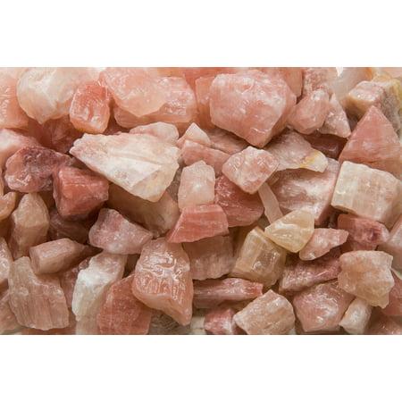 "Fantasia Crystal Vault: 1/2 lb Mangano Pink Calcite Rough Stones from Pakistan - Large 1"" Avg. Size - Raw Natural Unpolished Rocks"