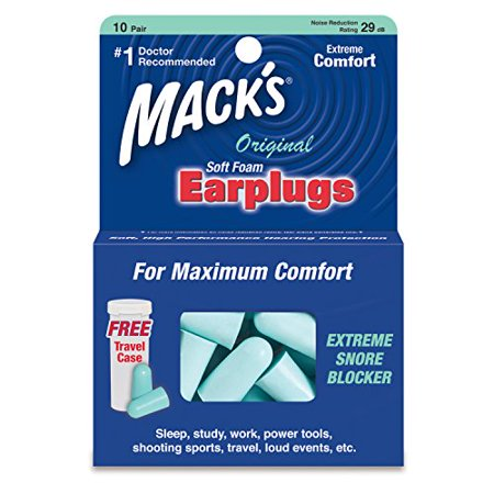 - Mack's Safe Sound Original Soft Foam Earplugs- 10 Pairs Each