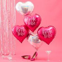 Ginger Ray Bride Tribe Hot Pink & Iridescent Foil Balloons
