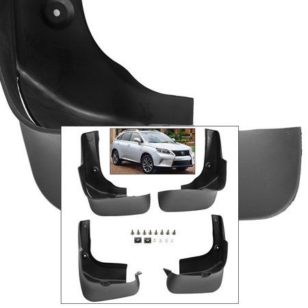 Front Rear Mud Flaps Splash Guards 2010-2015 Lexus RX350 2010-2015 RX450H
