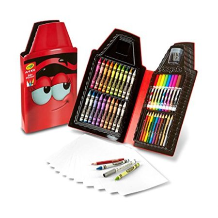 Crayola Tip Tool Kit, Scarlet, 40 Art Tools and Paper, Tip Character - Crayola Inspiration Art Case