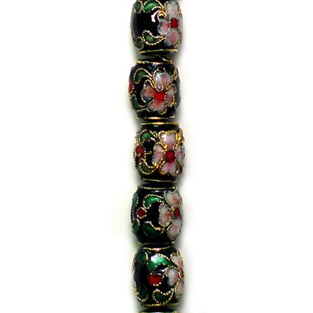 11mm 16in Strand (Expo 11mm  x 9mm Cloisonne Bead 8 Inch Strand )