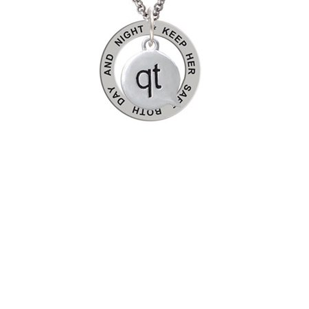 Text Chat   Qt   Cutie   Keep Her Safe Both Day And Night Affirmation Ring Necklace