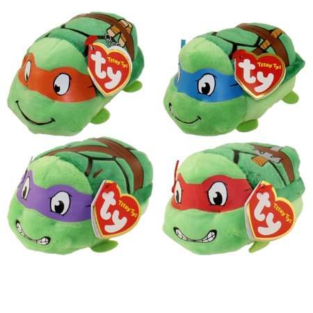 TY Beanie Boos - Teeny Tys Stackable Plush - TMNT - SET OF 4 (Donatello, Raphael, Michelangelo & Leo