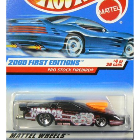 hot wheels 2000-064 first edition 4 of 36 black pro stock firebird 1:64 scale