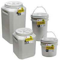 Gamma2 Vittles Vault Outback Pet Food Storage Bucket, Grey, 10 Lb