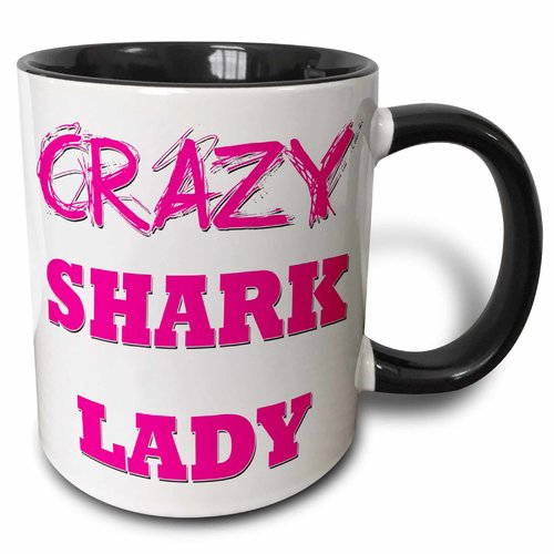 Symple Stuff Gassville Crazy Shark Lady Coffee Mug