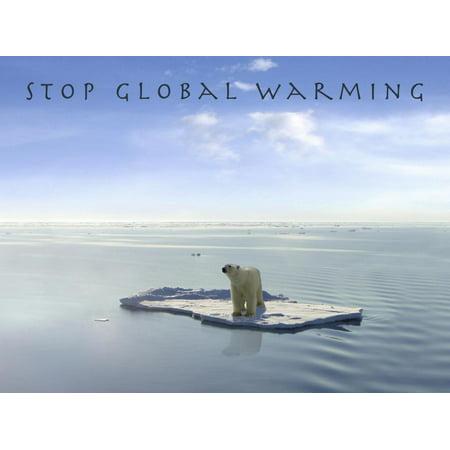 Stop Global Warming Print Wall Art