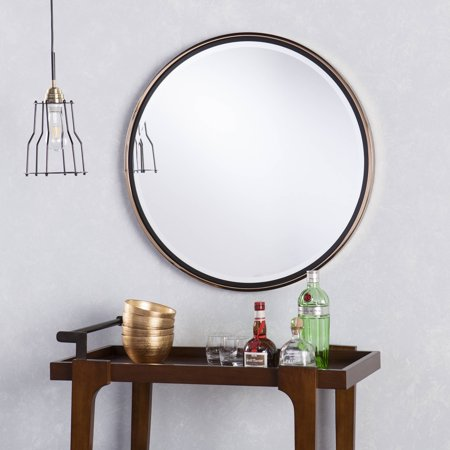 Holly and Martin Wais Round Wall Mirror, Champagne Gold