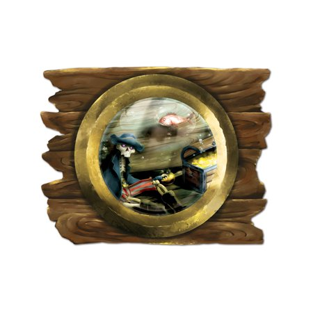 Sunken Ship Porthole Cutout Wall Party Decoration](Ship Porthole)