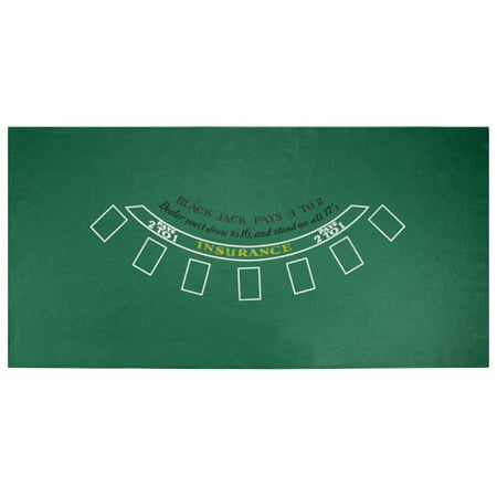 Brybelly Blackjack Green Casino Gaming Table Felt Layout, 36