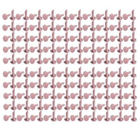 Unique Bargains 9mmx4.5mm Iron Round Paper Brad Fasteners Pink for Scrapbooking Craft - Scrapbooking Brads