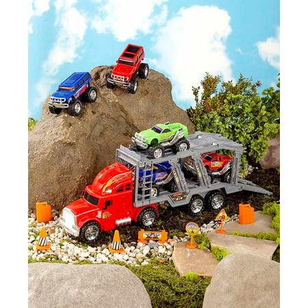 14-Pc. Monster Truck Hauler Playset
