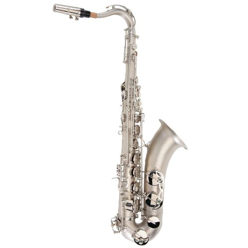 Ravel TS002NSB Sand Blasted Nickel Student Tenor Saxophone with High F# by Ravel