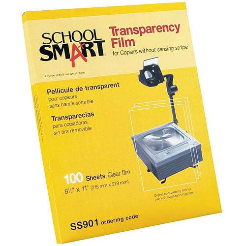 "SchoolSmart Copier Transparency Film, 8.5"" x 11"", 100-Pack"