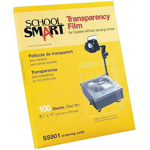 "School Smart Copier Transparency Film Without Sensing Strip, 8.5"" x 11"", 100 Count"