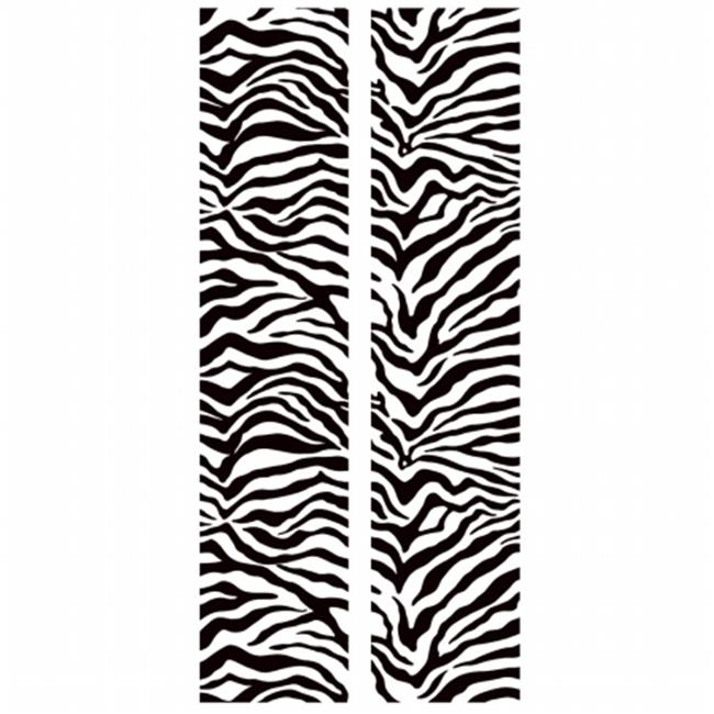 RoomMates RMK2018SLG Black & White Zebra Peel & Stick Locker Skins