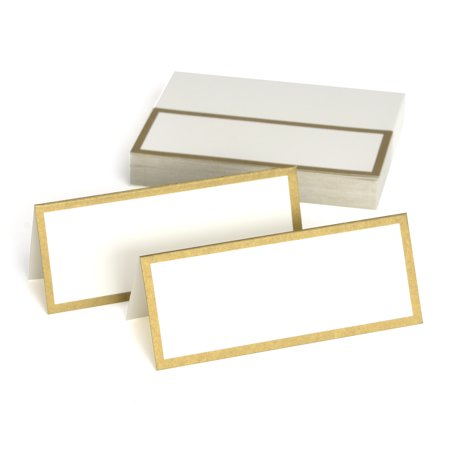 Place Setting Cards (Way to Celebrate Gold Place Cards, 50)