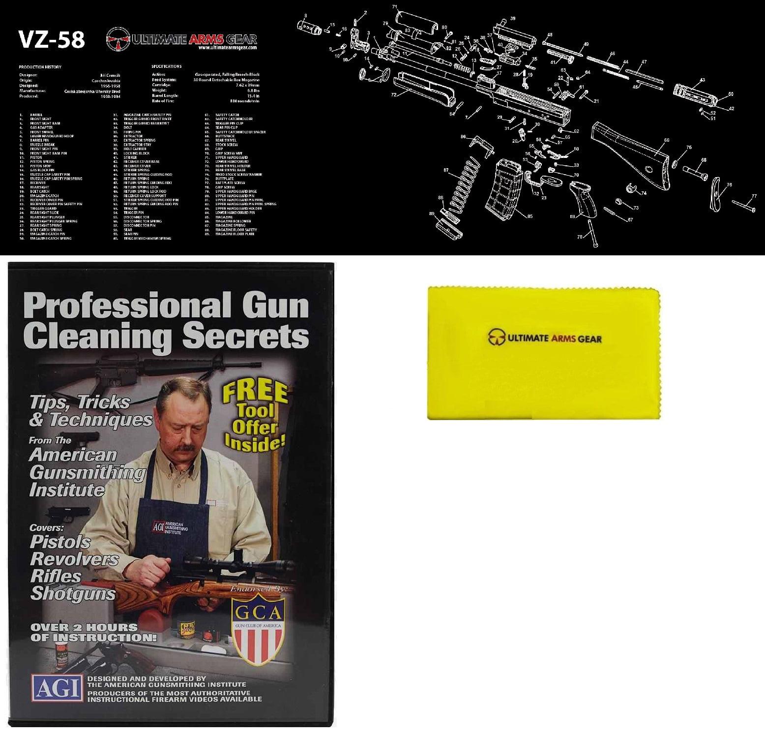 AGI DVD Professional Gun Cleaning Course Secrets + Ultimate Arms Gear VZ58 VZ-58 Gunsmith & Armorer's Bench Mat +... by