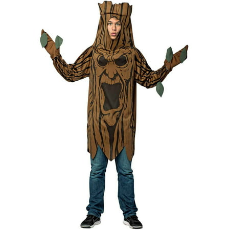 Scary Tree Men's Adult Halloween Costume, One Size, (40-46) (Scary Face Paint Halloween)