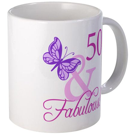 CafePress - Fabulous 50Th Birthday Mug - Unique Coffee Mug, Coffee Cup CafePress
