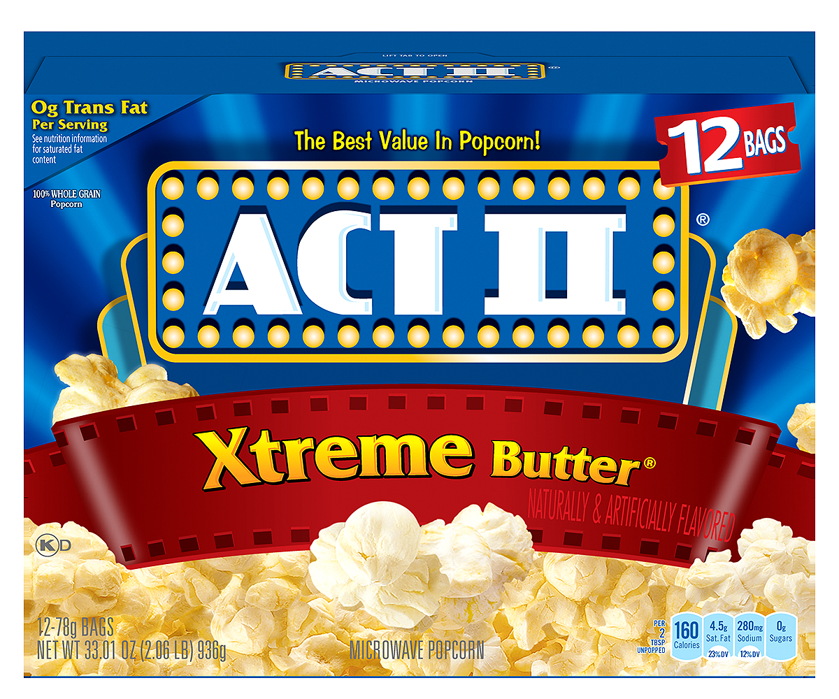 ACT II Xtreme Butter Microwave Popcorn, 12 ct, 33.01 oz by ConAgra Foods Inc.