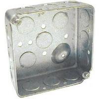 "4"" x 1-1/2"" Deep Steel Drawn Corners Square Box 4PK"