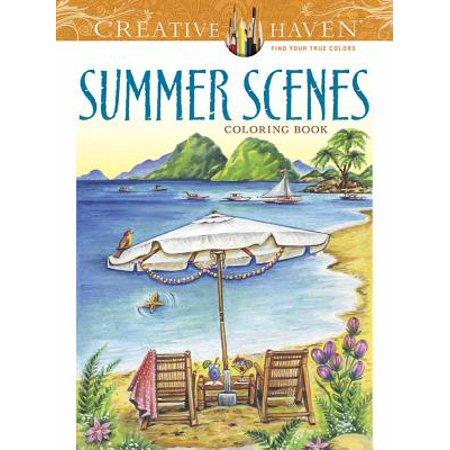 Creative Haven Summer Scenes Coloring Book](Preschool Summer Crafts)