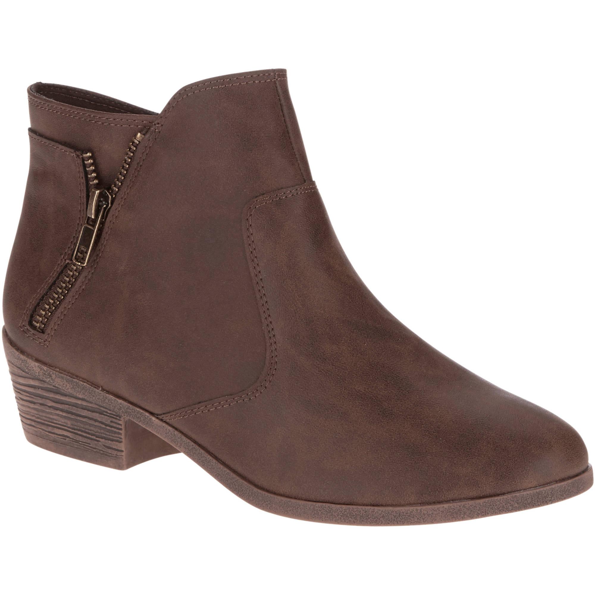 faded s zipper boot walmart