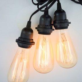 Pearl Black Socket Pendant Light Lamp