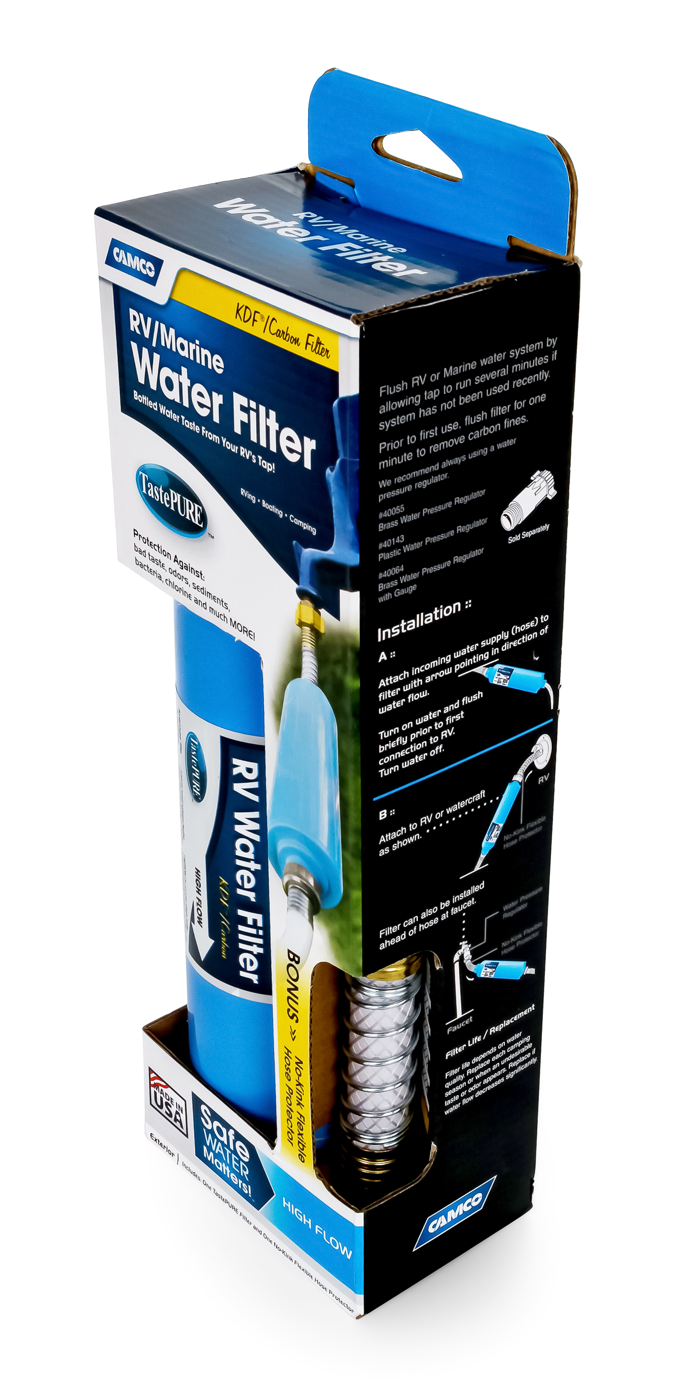 Camco 40043 TastePURE Water Filter with Flexible Hose Protector ...