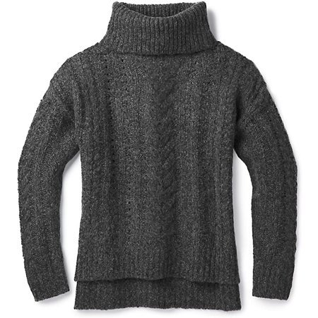 SmartWool Women's Moon Ridge Boyfriend Sweater Charcoal X-Large - image 1 of 1