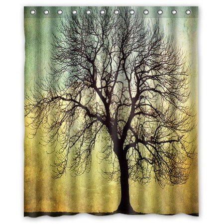 HelloDecor Digital Art Faith Tree Shower Curtain Polyester Fabric Bathroom Decorative Size 60x72 Inches