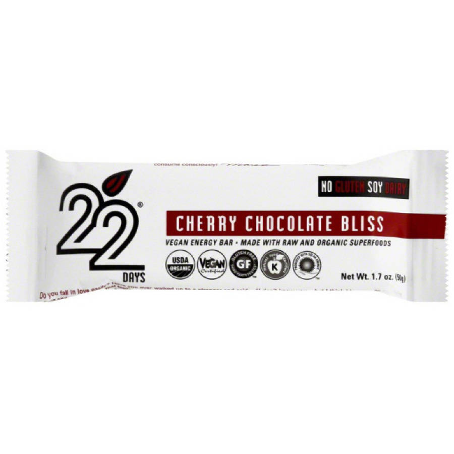 Image of 22 Days Cherry Chocolate Bliss Vegan Energy Bars, 1.7 oz, 12 count