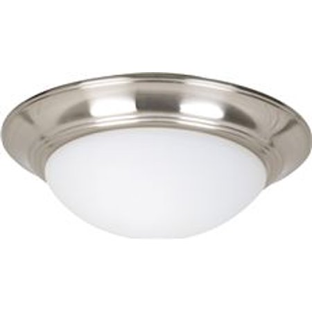 Litex Elegance 2-Light Ceiling Fan Light Kit With Cased White Bowl, Stainless Steel, Uses 13-Watt Compact Fluorescent Lamps* Ceiling Fan Bowl Kit