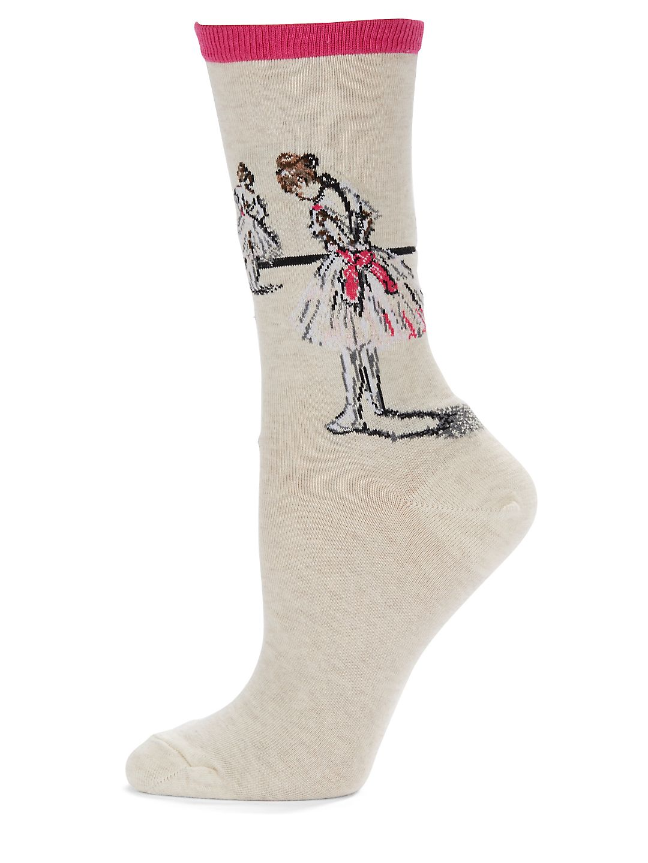 Ballerina Print Socks