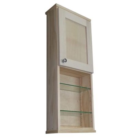 Wg wood products shaker series 36 inch unfinished 5 5 inch for Kitchen cabinets 8 inches deep