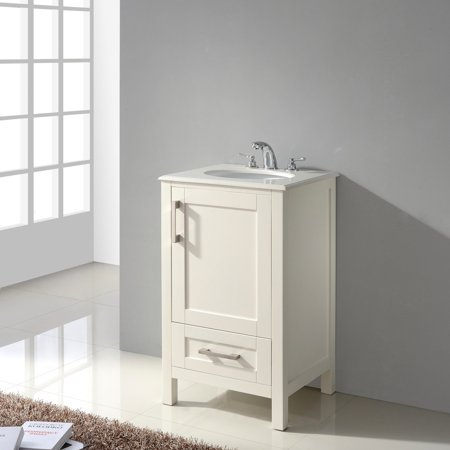 Brooklyn and Max Newport Bath Vanity in Soft White with ...
