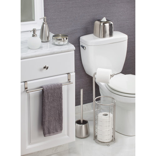 InterDesign Forma Over-the-Cabinet Bathroom Hand Towel Bar Holder ...