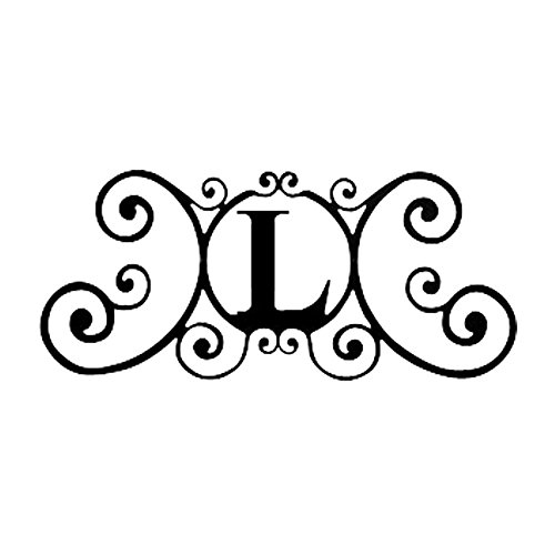 wrought iron letter l wrought iron hp od l house plaque letter l 457
