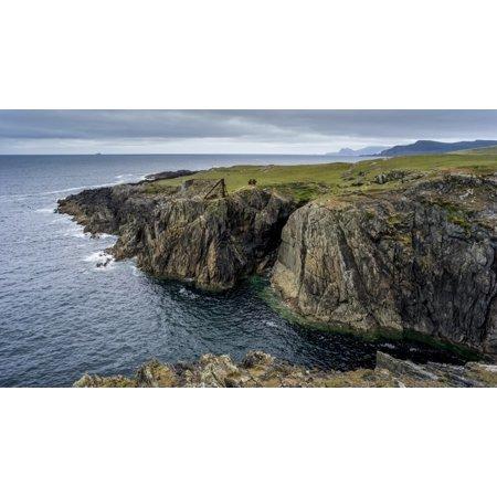 Rugged coastline of Achill Island, Wild Atlantic Way; Achill Sound, County Mayo, Ireland Poster Print by Keith Levit / Design Pics
