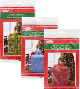 Giant Gift Bags (Giant Gift Bags 36 x 44 (Set of 3) - Christmas Holiday Extra Large Oversize Cellophane Bags By Christmas)