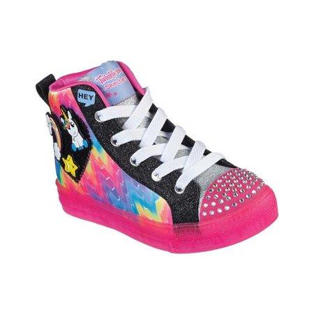 Girls' Skechers Twinkle Toes Shuffle Brights Mix N' Patch Sneaker