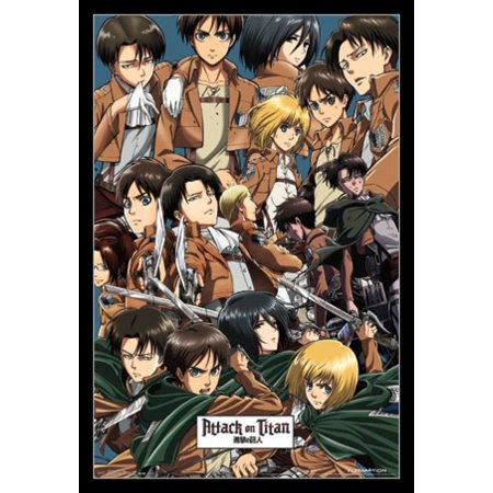 Attack on Titan - Collage Poster - Attack On Titan Halloween Art