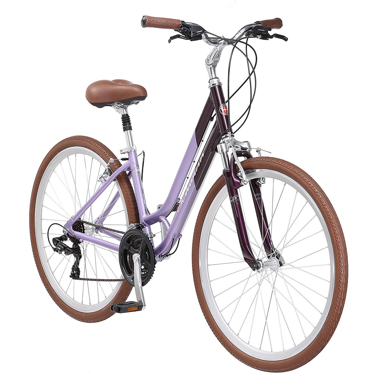 Schwinn S4057A Capitol Women's 16 Inch Frame 21 Speed Hybrid Bike, Lavender