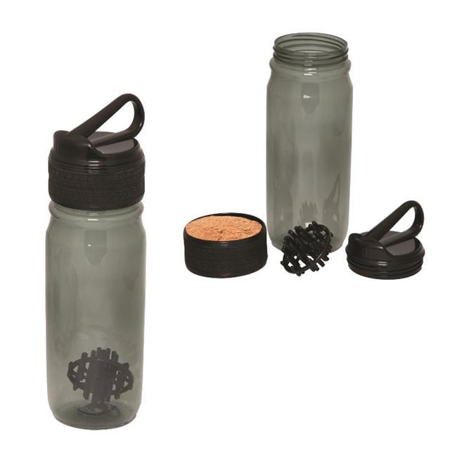 Debco WB8889 800 ml 27 oz Bay Bottle Shaker - Black  - 12 Pack