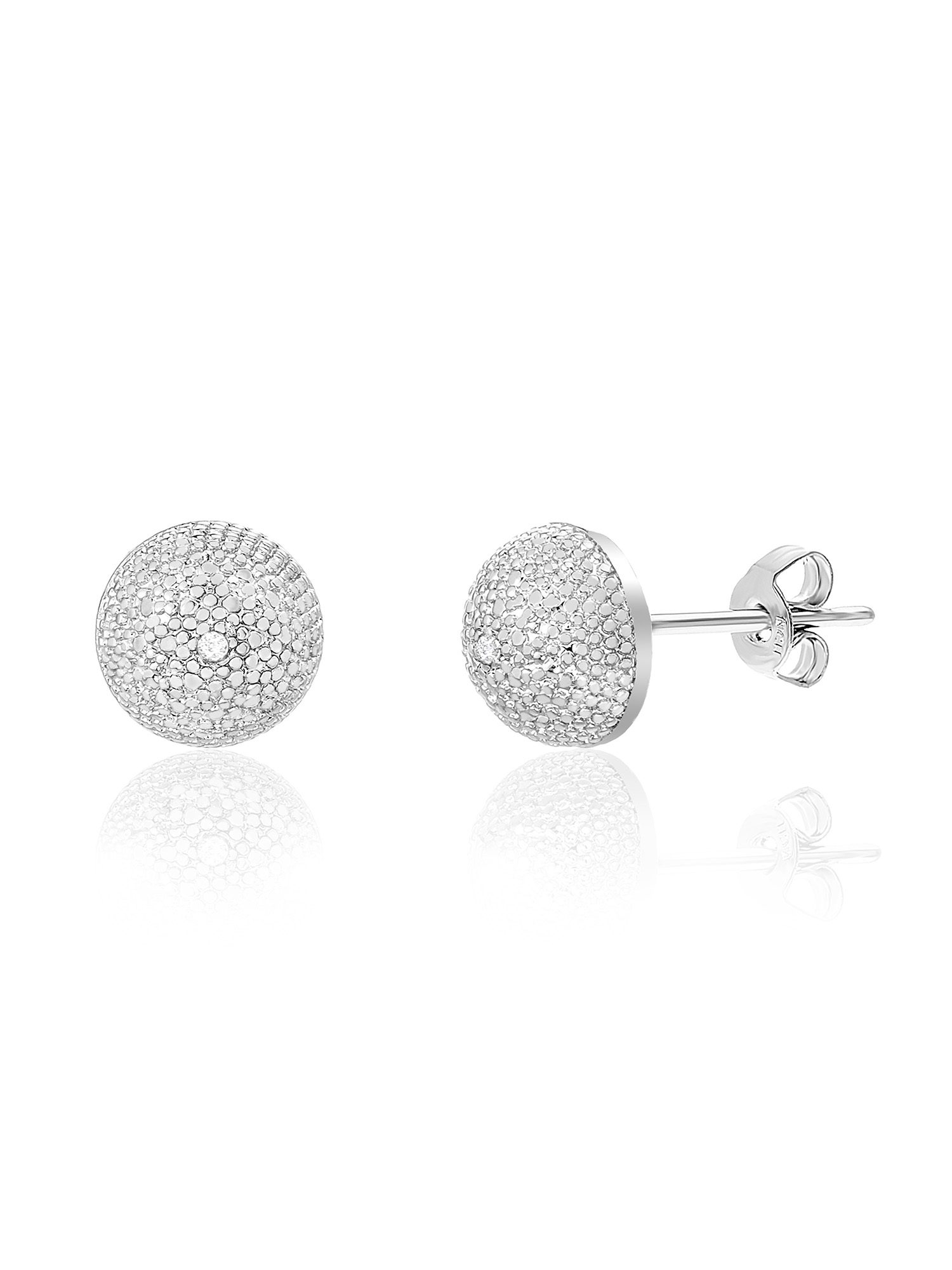 Lumineux Diamond Accent Round Post Earring