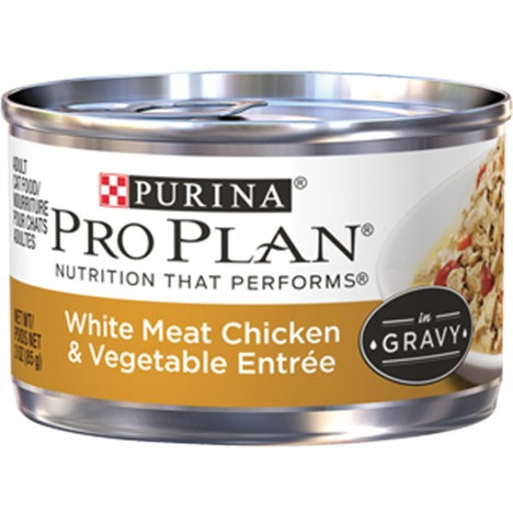 Purina Pro Plan White Meat Chicken & Vegetable Entree in Gravy Adult Wet Cat Food - (24) 3 oz. Pull-Top Can