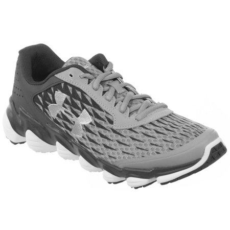 the best attitude b3320 5775a UNDER ARMOUR MENS ATHLETIC SHOES SPINE DISRUPT GREY CHARCOAL SILVER WHITE  12 M